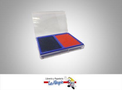 Almohadilla sellos azul/rojo 6x8cm mf076