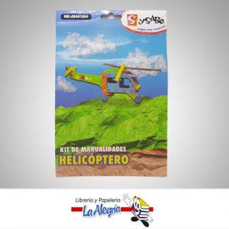 Kit manualidades de helicoptero