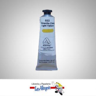 Pintura al oleo 40cc amarillo claro atenea