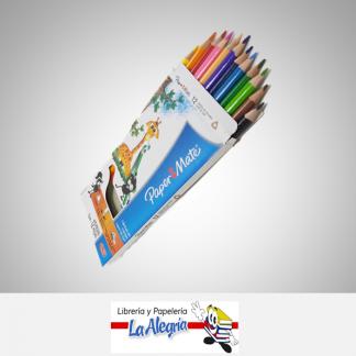Lapices de colores 12 colores triangulares papermate