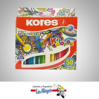 Lapices de colores 50 colores triangulares para mandalas