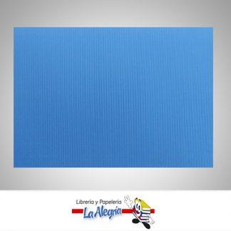 carton corrugado 50x70cm azul rey