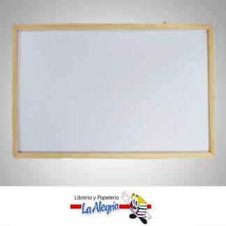Pizarra acrilica marco madera 80x60cm